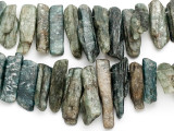 Green Kyanite Graduated Stick Gemstone Beads 15-48mm (GS3521)