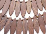 Graduated Wood Grain Jasper Gemstone Beads 30-60mm (GS3523)