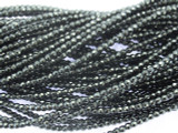 Hematite Faceted Round Gemstone Beads 1-2mm (GS3525)