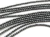 Hematite Faceted Round Gemstone Beads 2-3mm (GS3527)