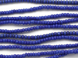 Small Blue Glass Trade Beads 4mm (AT7019)