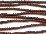 Small Brown Glass Trade Beads 4mm (AT7024)
