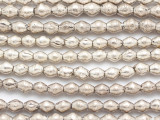 Silver Bicone Metal Beads 6-8mm - Ethiopia (ME5666)
