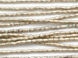 Silver Tube Metal Beads 3mm - Ethiopia (ME5668)