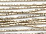 Silver Tube Metal Beads 3mm - Ethiopia (ME5668)
