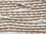 Silver Large Rice Metal Beads 8-10mm - Ethiopia (ME5670)