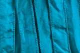 "Turquoise Hand Stitched Silk Ribbon 42"" (SK3007)"
