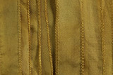"Mustard Yellow Hand Stitched Silk Ribbon 42"" (SK3011)"