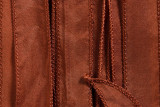"Copper Brown Hand Stitched Silk Ribbon 42"" (SK3013)"
