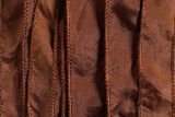 "Brown Hand Stitched Silk Ribbon 42"" (SK3017)"