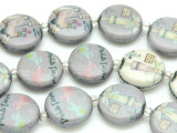 Friends Forever Lavender Decoupage Beads 20mm (DC75)