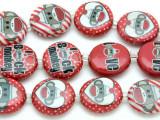 Sock Monkey Love Decoupage Beads 20mm (DC78)