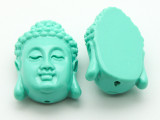 Green Buddha Resin Bead 25mm (RES600)