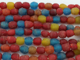 Multi-Color Recycled Glass Beads  9-10mm - Africa (RG606)