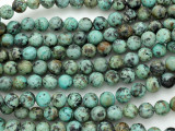 "African ""Turquoise"" Round Gemstone Beads 8mm (GS3605)"