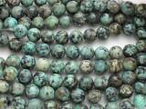"African ""Turquoise"" Jasper Round Gemstone Beads 10mm (GS3606)"