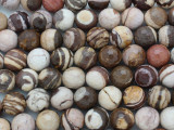 Brown Zebra Jasper Faceted Round Gemstone Beads 12mm (GS3622)