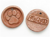 Copper Rescued - Paw Print Wax Seal Charm 33mm (PW748)