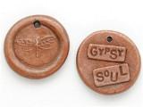 Copper Gypsy Soul - Wax Seal Charm 18mm (PW732)