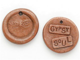 Copper Gypsy Soul - Wax Seal Charm 18mm (PW732)