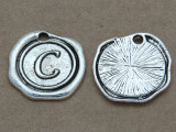 C - Wax Seal Stamp - Pewter Charm 18mm (PW760)