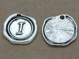 I - Wax Seal Stamp - Pewter Charm 18mm (PW766)