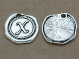 X - Wax Seal Stamp - Pewter Charm 18mm (PW781)