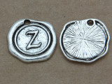 Z - Wax Seal Stamp - Pewter Charm 18mm (PW783)