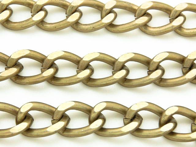 Antique Brass Plated Aluminum Curb Chain 15mm - 36