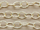"Gold Plated Aluminum Oval Link Chain 13mm - 36""  (CHAIN24)"