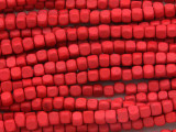 Red Cube Wood Beads 4mm (WD896)
