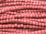 Pink Cube Wood Beads 4mm (WD898)