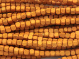 Light Orange Cube Wood Beads 4mm (WD900)
