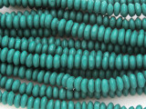Teal Saucer Wood Beads 5-6mm (WD901)