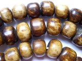 Large Brown Bone Beads 20-25mm - Kenya (BA18)