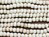 Antiqued Irregular Round Bone Beads 6mm (B9016)
