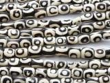 Batik Bone Beads, Circles 12mm - Kenya (BA16)