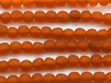 Orange Recycled Glass Beads 10mm - Africa (RG32)