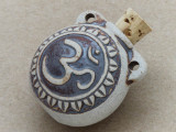 Om Ceramic Cork Bottle Pendant 32mm (AP1825)