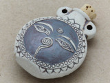 Buddha Eyes Ceramic Cork Bottle Pendant 45mm (AP1827)