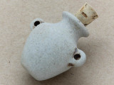 Plain Vase Ceramic Cork Bottle Pendant 36mm (AP1838)