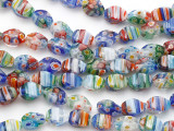 Millefiori Twist Lampwork Glass Beads 12mm (LW1567)