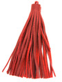 "Red Leather Tassel - Large 5"" (LR37)"