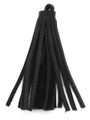 "Black Leather Tassel - Small 4"" (LR46)"