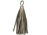 "Metallic Bronze Leather Tassel - Small 4"" (LR47)"