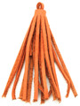 "Orange Leather Tassel - Small 4"" (LR53)"