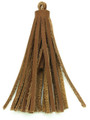 "Light Brown Leather Tassel - Small 4"" (LR60)"