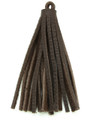 "Chocolate Brown Leather Tassel - Small 4"" (LR63)"