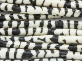 Batik Tube Bone Beads w/Stripes 28-30mm - Kenya (BA7017)