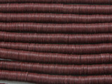 Maroon Vinyl Disc Beads 6mm (VY190)